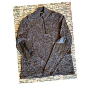 NWOT Michale Kors Sweater Faux Leather Elbow Patch